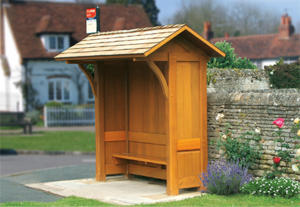 Wooden Bus Shelters